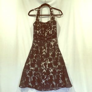 Dresses & Skirts - Ann Taylor halter dress with floral overlay